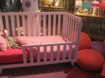 Low Rise Crib, Heart Crib Bedding, Knit Poufs