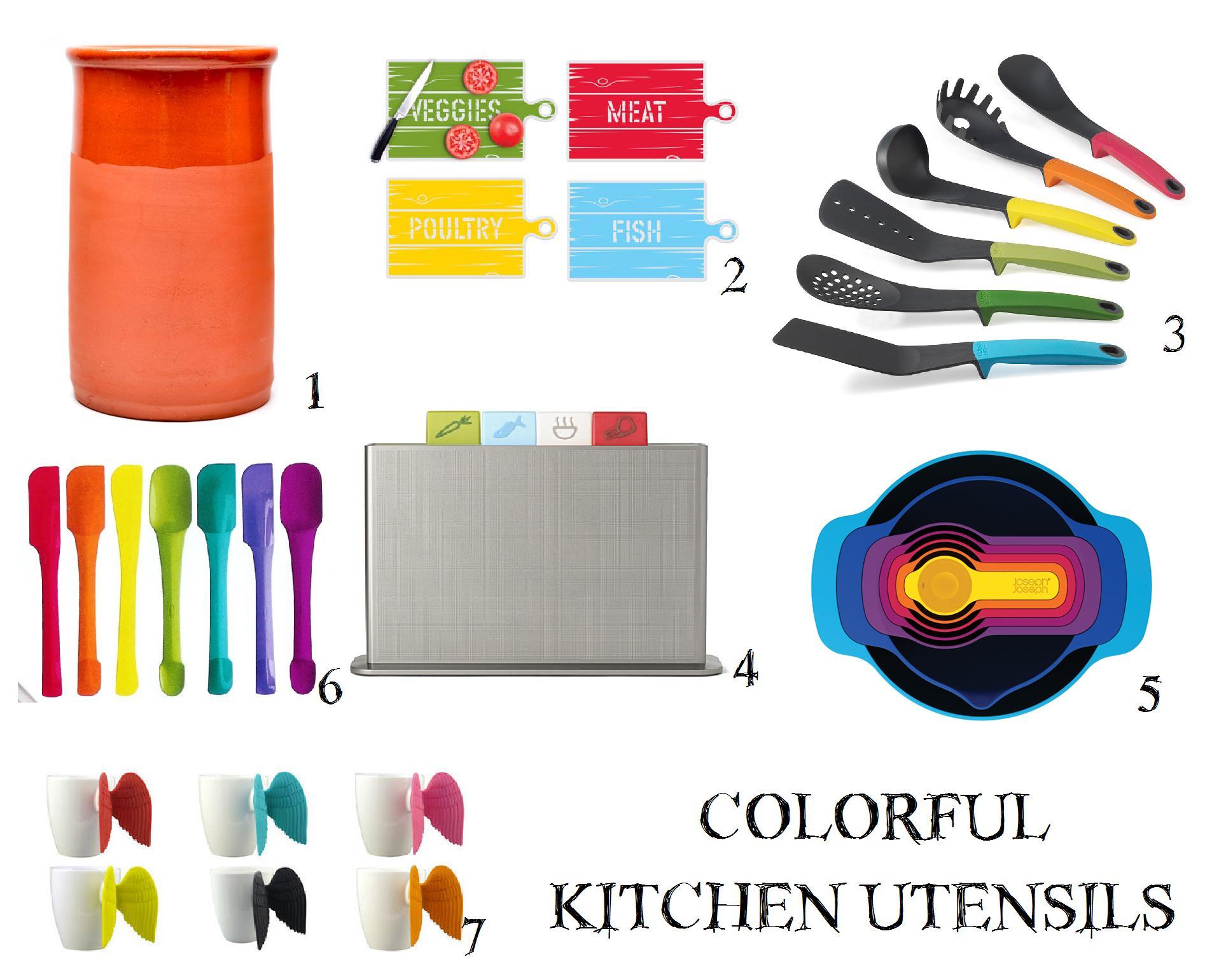 Decoration Inspiration: Colorful Kitchen Utensils - Casa Diseno LLC
